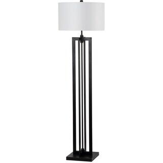 "Safavieh Lighting 59-inch Tanya Tower Black Floor Lamp - 17""x17""x59"""