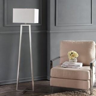 Safavieh Indoor 1-light Lyell Nickel Floor Lamp
