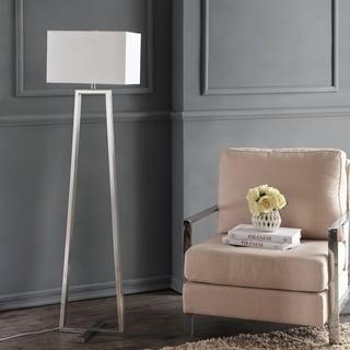"Safavieh Lighting 60-inch Lyell Nickel Floor Lamp - 16""x11""x60"""