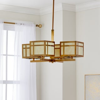 Safavieh Indoor 4-light Craftsman Gold Chandelier