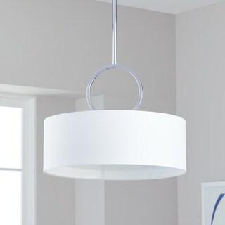 Safavieh Lighting 65-inches 3-light Debonair Chrome Drum Pendant