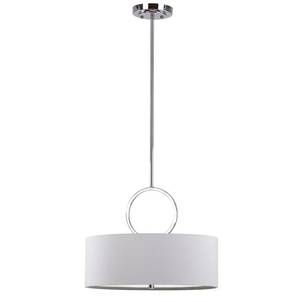 Safavieh Indoor 3-light Debonair Chrome Drum Pendant