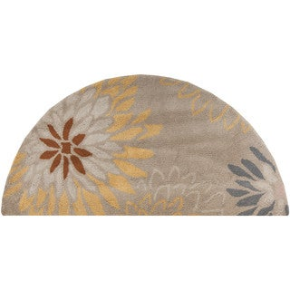 Hand-tufted Dazzle Floral Wool Rug (2' x 4' Hearth)