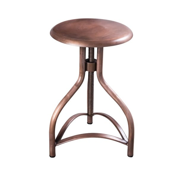 Adjustable Height Metallic Steel Twist Stool (India)