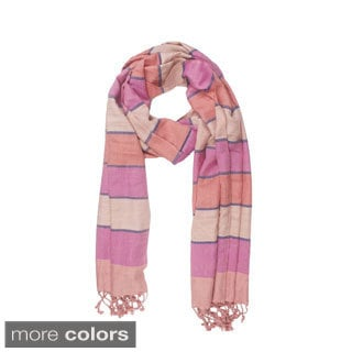 In-Sattva Colors Horizontal Striped Multicolored Scarf (India)