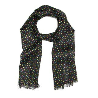 Saachi Women's Multicolor Polka Dot Scarf (India)