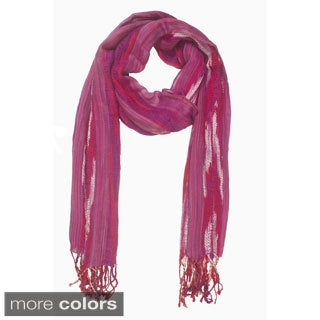 In-Sattva Colors Woven Multicolored Vertical Stripe Scarf (India)