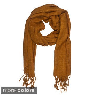 In-Sattva Colors Decorative Vertical Stripe Embellished Scarf (India)