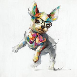 Aurelle Home 'Pretty Dog' Canvas Wall Art
