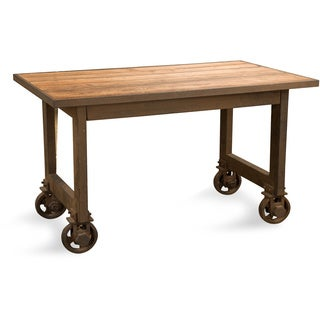 Aurelle Home Distressed Wood and Steel Counter Table