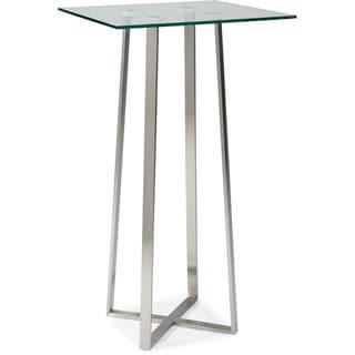 Aurelle Home Martin Glass Bar Table