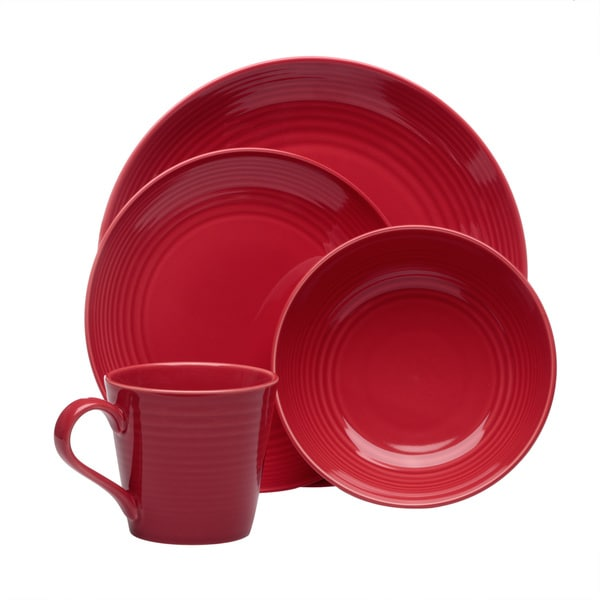 Gordon Ramsay Maze Chilli Red 16-piece Dinnerware Set