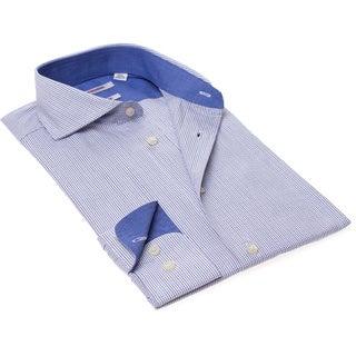 Isaac Mizrahi Men's Slim Fit Blue Check Dress Shirt