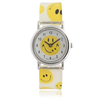 Geneva Platinum Kids' Smiley Face Watch