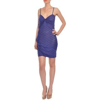 Emanuel Ungaro Women's Deep Amethyst Knit Cocktail Party Dress