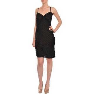 Emanuel Ungaro Women's Little Black Knit Day Cocktail Dress