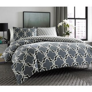 City Scene Brodie Cotton 3-piece Reversible Comforter Set