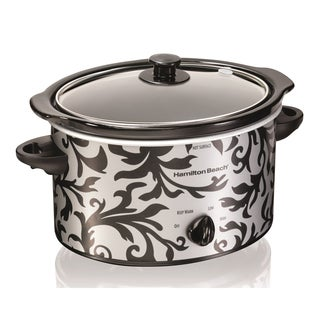 Hamilton Beach 33237 3-quart Patterned Oval Slow Cooker