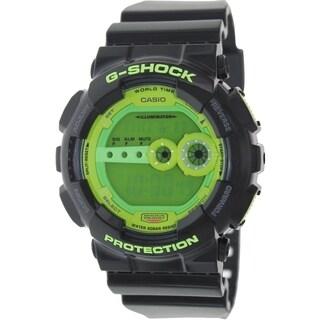 Casio Men's G-Shock GD100SC-1 Black Resin Quartz Watch with Digital Dial