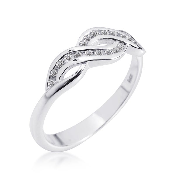 Gleaming Infinity Symbol Cubic Zirconia .925 Silver Ring (Thailand)