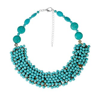 Elegant Cascade Blossoms Turquoise Handmade Necklace (Thailand)