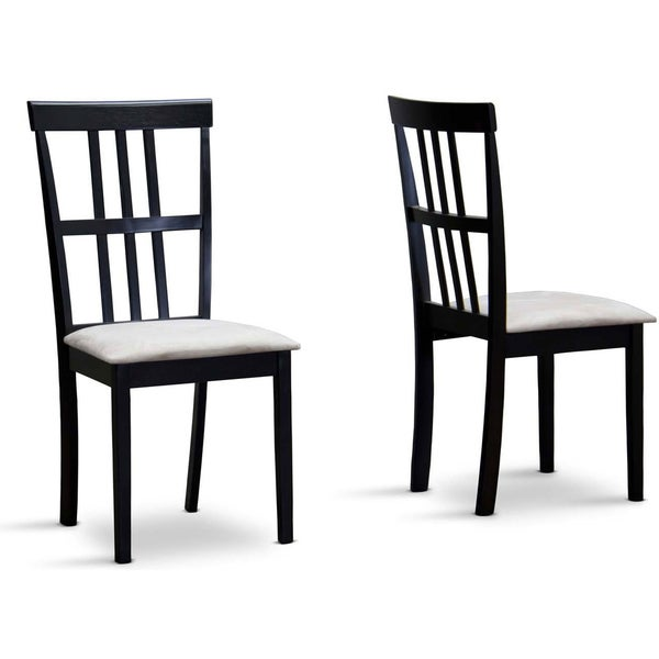 Baxton Studio Jet Moon Modern Wood Dining Chair Set Of 2