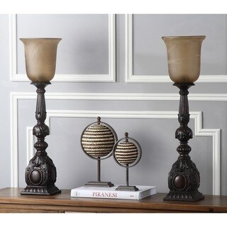 Safavieh Lighting 28-inch Dion Artifact Oil-Rubbed Bronze Table Lamp (Set of 2)