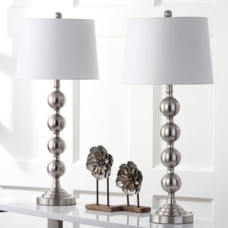 Safavieh Indoor 1-light Stacked Gazing Ball Nickel Table Lamp (Set of 2)