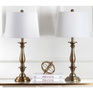 Safavieh Indoor 1-light Brighton Candlestick Gold Table Lamp (Set of 2)