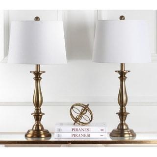 Safavieh Lighting 29-inch Brighton Candlestick Gold Table Lamp (Set of 2)