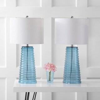 Safavieh Indoor 1-light Yantley Blue Table Lamp (Set of 2)