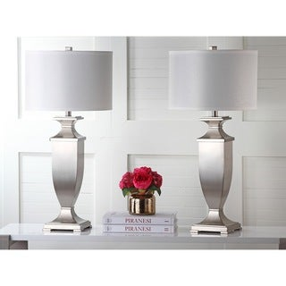 Safavieh Indoor 1-light Ambler Nickel Table Lamp (Set of 2)