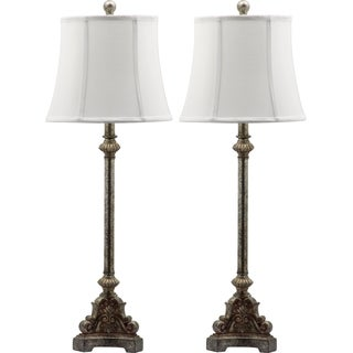 Safavieh Lighting 33.5-inches Rimini Console Antiqued Table Lamp (Set of 2)