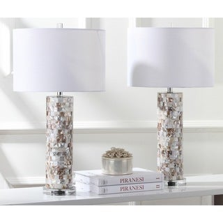 Safavieh Lighting 28.9-inch Boise Cream Table Lamp (Set of 2)