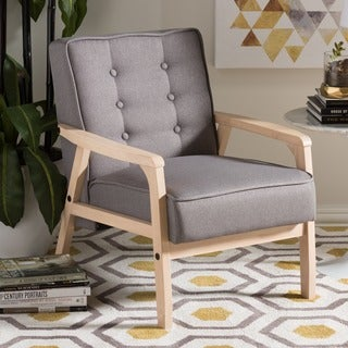 Baxton Studio Mid-Century Masterpieces Club Chair in Gray