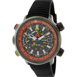 Citizen Men's Eco-Drive BN4026-09F Black Rubber Quartz Watch with Grey Dial