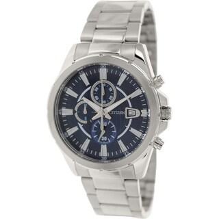 Citizen Men's AN3560-51L Stainless Steel Quartz Watch with Blue Dial