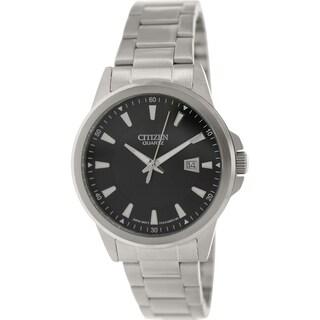 Citizen Men's BI1010-51E Stainless Steel Quartz Watch with Black Dial