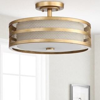 "Safavieh Lighting Greta 3-light Veil Gold Ceiling Light - 15.75""x15.75 ""x9.625"""