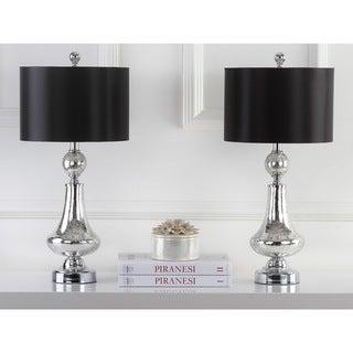 "Safavieh Lighting 26-inch Mercury Crackle Glass Table Lamp (Set of 2) - 12""x12""x25.5"""
