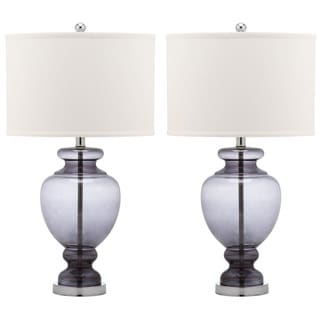 Safavieh Indoor 1-light Grey Glass Table Lamp (Set of 2)