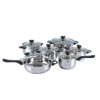 12-piece Heavy Gauge Stainless Steel Jumbo Cookware Set