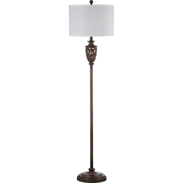 safavieh indoor 1 light marion white natural floor lamp 16707803. Black Bedroom Furniture Sets. Home Design Ideas