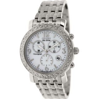 Citizen Women's Eco-Drive FB1290-58A Silver Stainless-Steel Eco-Drive Watch with Mother-Of-Pearl Dia