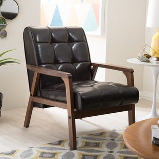 Baxton Studio Mid-Century Masterpieces Brown Club Chair
