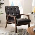 Baxton Studio Mid-Century Masterpieces Brown Club Chair