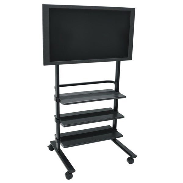 Luxor Heavy-Duty Universal Mobile Flat Panel TV Stand