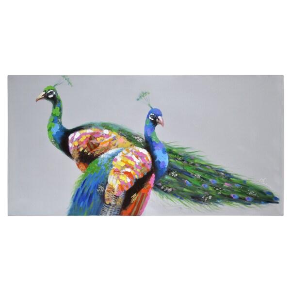 Olivia Salazar Teal and Turquoise Canvas Artwork