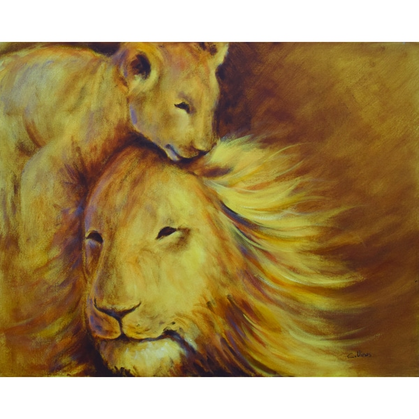 C.Viens Father and Son Canvas Artwork