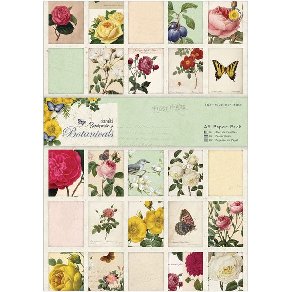 Papermania A5 Paper Pack 32/Pkg-Botanicals